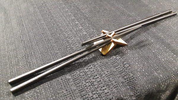 Chopstick Stand with fiberglass chopsticks