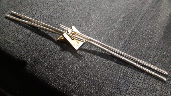 Chopstick Stand with metal chopsticks