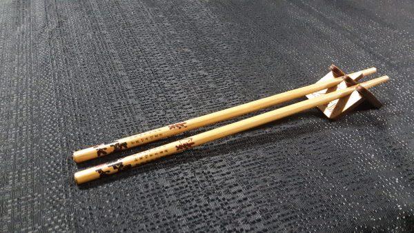 Chopstick Stand with wooden chopsticks