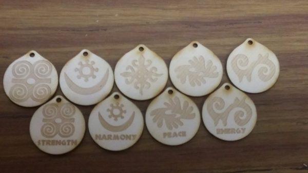 Adinkra Symbols (wooden)