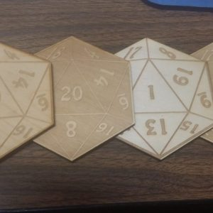 Coasters: D20 mixed set