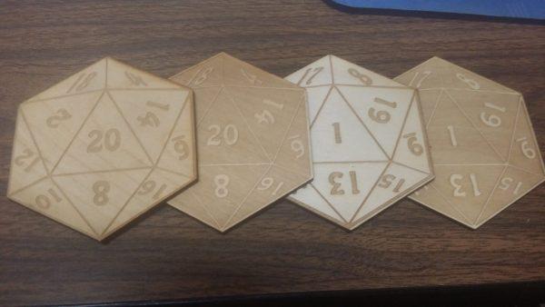 Coasters: D20 mixed set