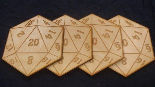 D20 Coasters