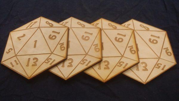 D20 Coasters (Fail)