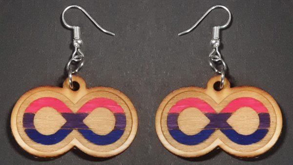 Infinite Pride Earrings: Bisexual
