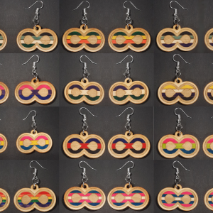 Infinite Pride Earrings: Collage