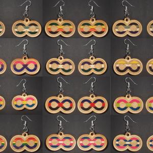 Infinite Pride Earrings: Collage