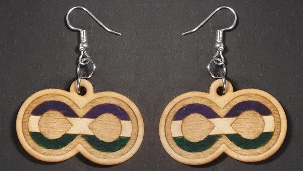Infinite Pride Earrings: Genderqueer