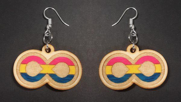 Infinite Pride Earrings: Pansexual