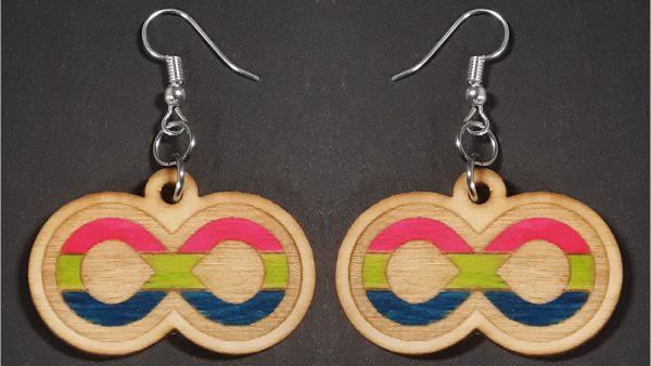 Infinite Pride Earrings: Polysexual