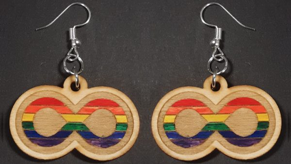 Infinite Pride Earrings: Rainbow Gay