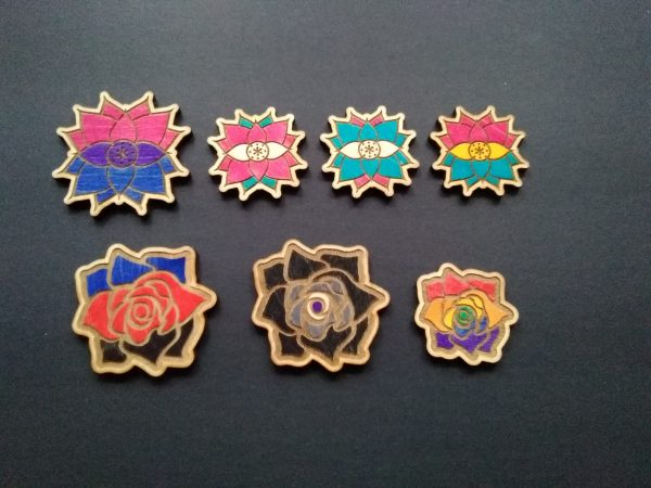 Pride Flower Hair Clips