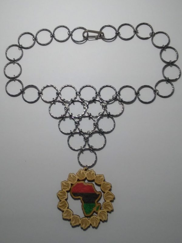 PanAfrican SolFire Pendant with Keringmaille chain