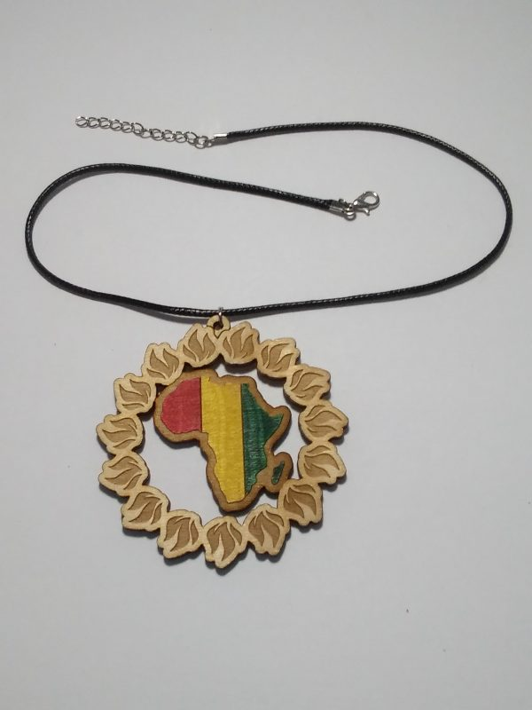 PanAfrican SolFire Pendant with Leather cord necklace