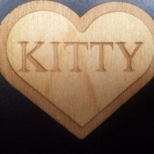 Kitty (Heart shaped) Pin