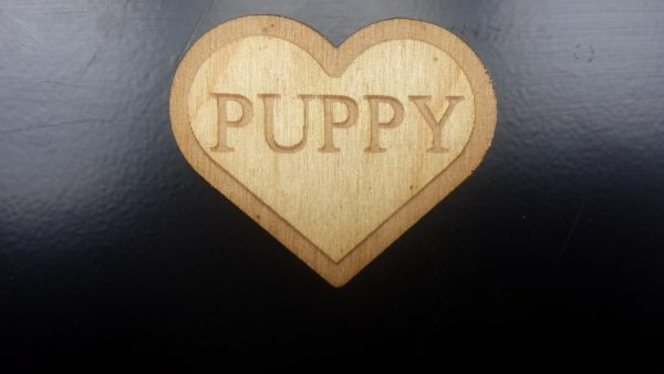 Puppy (Heart shaped) Pin