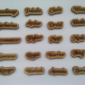 Role Play Character Class Pins