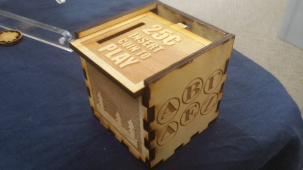 Arcade Machine Sliding Top Lock Box