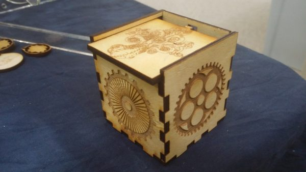 Steampunk Sliding Top Box