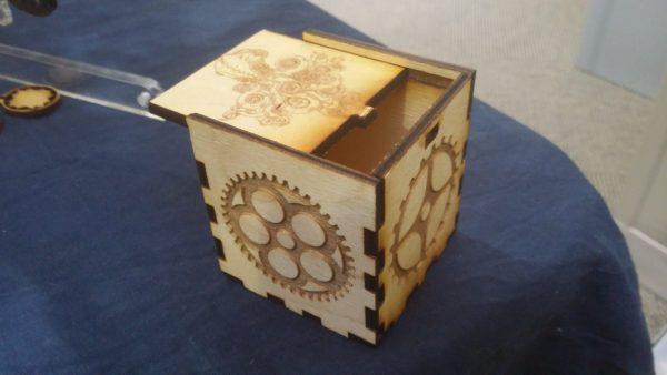 Steampunk Sliding Top Box