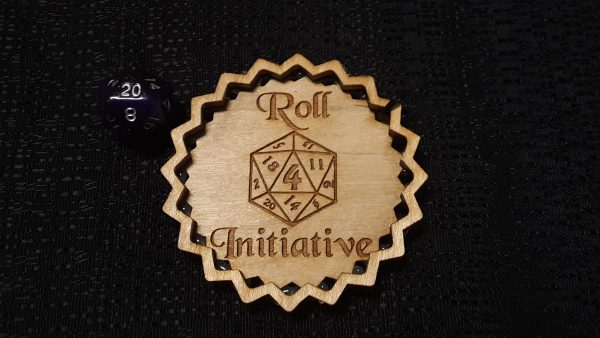 3 inch Dice Tray: Roll 4 Initiative (Explosion Form)