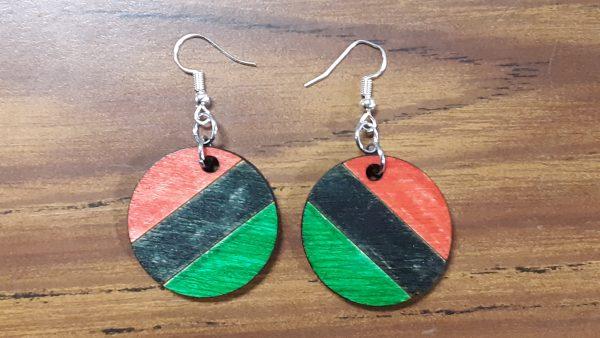 Round Earrings - Diagonal Pattern
