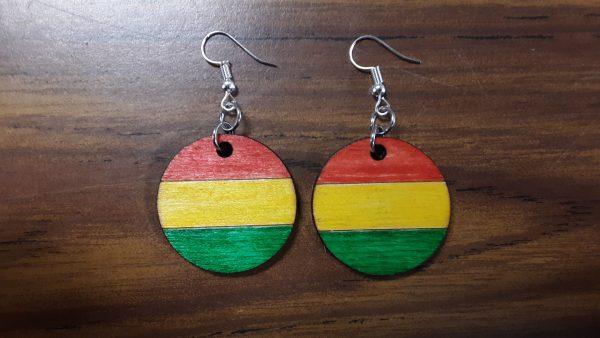Round Earrings - Horizontal Pattern