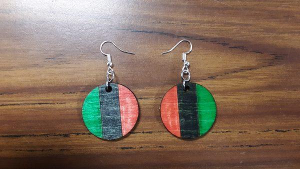 Round Earrings - Vertical Pattern