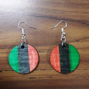Round Earrings - Vertical Pattern