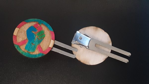Hair Clip: Peace, Power and Pride theme. Transexual