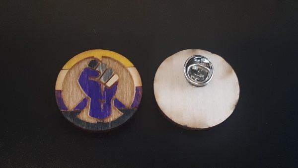 Lapel Pin: Peace, Power and Pride theme. Non-Binary