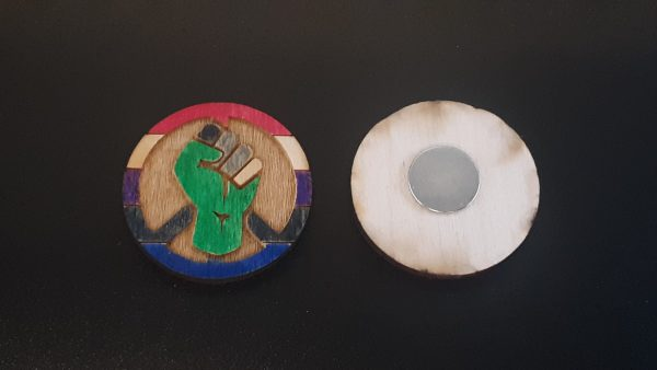 Magnet: Peace, Power and Pride theme. Genderfluid