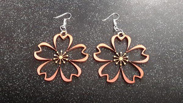 Sakura Blossom Cutout Earrings