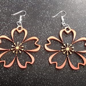 Sakura Blossom Cutout Earrings