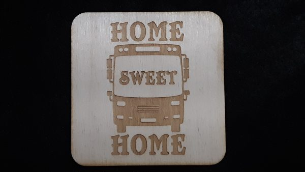 "Nomad Life ""Home Sweet Home"" Coaster - Skoolie"
