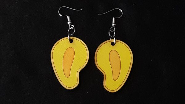 Mango Slice Earrings