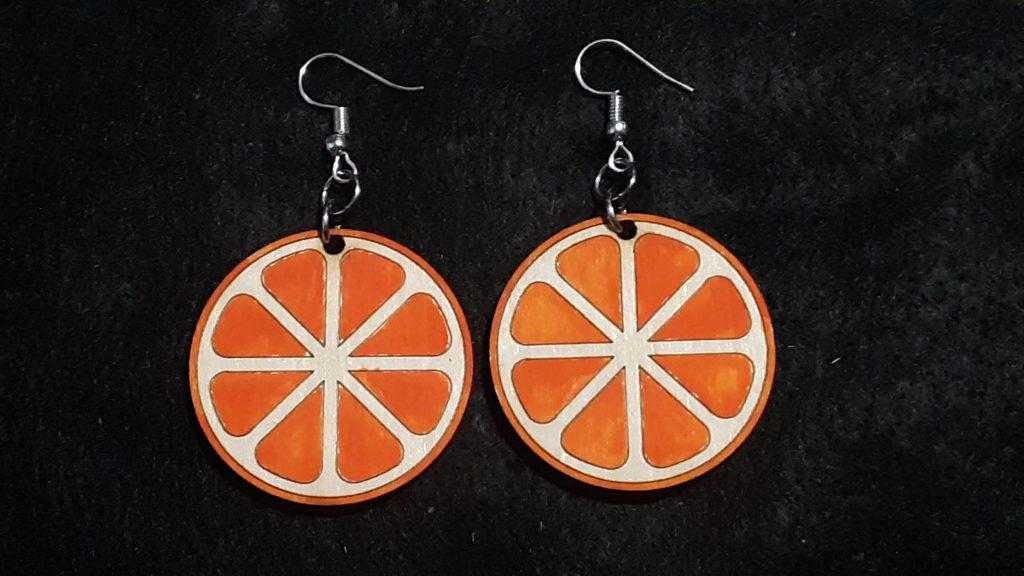 Orange Slice Earrings