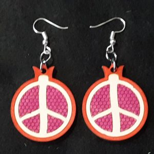 Pomegranate Slice Earrings