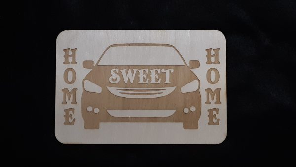 """Nomad Life """"Home Sweet Home"""" Plaque - Car"""