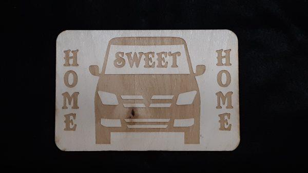 """Nomad Life """"Home Sweet Home"""" Plaque - Van"""